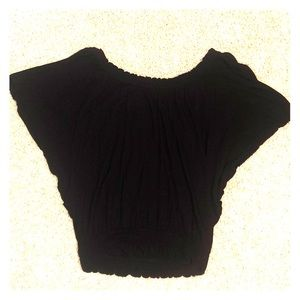 Black off the shoulder blouse